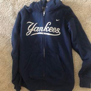 Nike Yankees navy zip up
